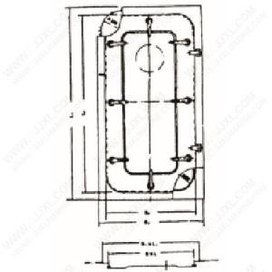 China Light Steel Watertight Door with Fixed Light on sale