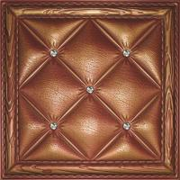China Eco-friendly Buffering 3D Leather Wall Tiles Washable Highly embossed wholesale