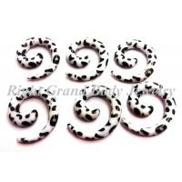 Best 5MM Cow Spiral Ear Tapers / White Ear Expander Spiral Taper wholesale