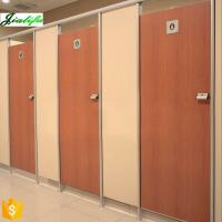 Best Door toilet partition wood grain with stainless accessories wholesale