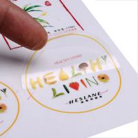 China custom clear PVC  PET sticker circle adhesive label with design printing company on sale