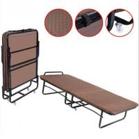 Stable Metal Folding Cot Portable Folding Bed With Wheels Powder Coating Finishing