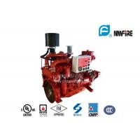 Best Red Professional Fire Pump Diesel Engine 144KW With Water Cold Cooling wholesale