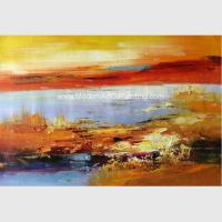 Decorative Hand - Painted Palette Knife Painting Acrylic, Modern Landscape Painting