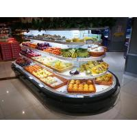 Rounded Open Display Fridge Brilliant LED Lighting For Fruit , Dairy And Meat