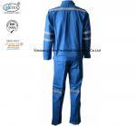 Best Cotton Blue Fireproof Boiler Suit With Reflective Trim wholesale