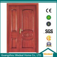 China Flush Door Wood Glass Interior door Yellow Wooden Door For Room/Hotel/Villa In High Quality on sale