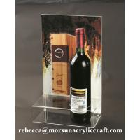 Best Plexiglass Products Clear Acrylic Wine Holder With Poster Holder wholesale
