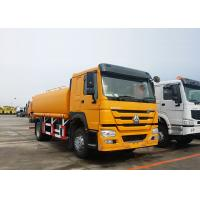 Cheap ZZ1167M4611 HOWO Water Tank Truck 14 - 18m Sprinkling Scope 9.726L Displacement for sale