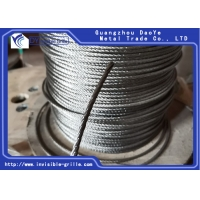 China 7X7 Stainless Steel Wire Rope Cable For Railing , Decking , DIY Balustrade on sale