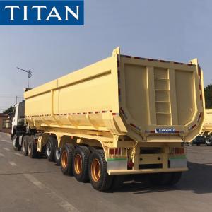 China TITAN 5 Axles Heavy Duty Tipper Trailer U Shape Dump Semi Truck Trailer on sale