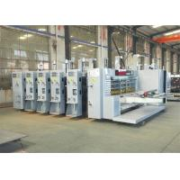 China PLC Control Printing Slotting Die Cutting Machine For Corrugated Board 4 Color on sale