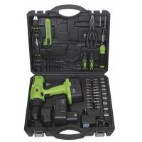 Best Portable Battery Charge Screwdriver Tools Kit Cordless Drill Sets with Metal Box Packaging wholesale