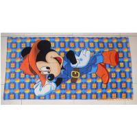 China wholesale 100% cotton cartoon character printing beach towel reactive printed bath towels on sale
