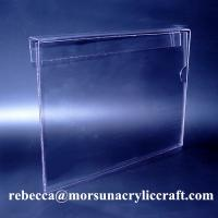 Best Hanging A4 Plexiglass Ticket Holder PMMA Poster Holder Clear Acrylic Price Holder wholesale