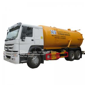 China Sinotruk howo 6x4 336hp 16000l 18000l sewer cleaning vacuum tanker pump sewage suction truck for sale on sale