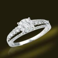 Best 925 Silver Sterling Wedding Rings with Diamond Stone wholesale