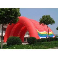 Best Red Color Outdoor Inflatable Tent PVC Coated Nylon For Business Advertise wholesale