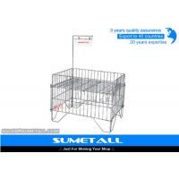 China Customized Color Steel Promotional Display Counter Wire Mesh Storage Baskets on sale