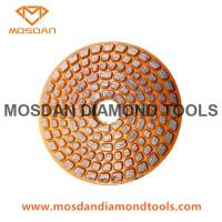 China 4 Inch Velcro Diamond Metal Bonded Grinding Disc for Concrete on sale
