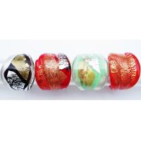 Best Colored Silver-Foil Art Handmade Glass Rings For Wedding , Non-corrosive wholesale