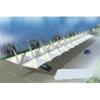 Buy cheap Customized Waterproof PVDF Cover Double Side Car Canopy With Steel Structure product