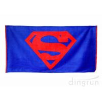 China Plain Style 100 Cotton Beach Towels Long Lasting Cooling Feel Customized Color on sale