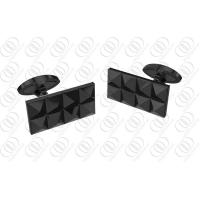 China Pyramid  Unique Mens Cufflinks Black Full PVD Black Plated on sale