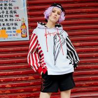 China New Latest Fashion Design Women's Fleece Pullover Hoody with Printed on sale