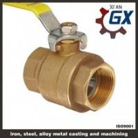 China Cast NPT Full Port Private Label on Handle 4 Inch Brass Ball Valve on sale