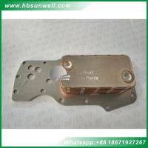 Best Oil cooler 3959031 4896407 for Genuine Cummins ISDE4 diesel engine parts 7-Layers oil cooler wholesale