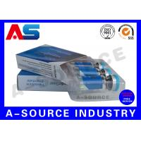 China Anti - Fake Steroid Injection Laser 10ml Vial Storage Boxes Panton Blue And White Color on sale