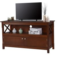 Best Large Living Room Wooden Television Stands With Open Shelf / X Side Cabinets wholesale