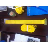 China WLL 3335 LBS Polyester Ratchet Straps , Yellow Car Trailer Straps CE Approved on sale