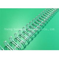 China Diary Books White Twin Loop Wire Binding Comb 9.5mm Nylon Coated on sale