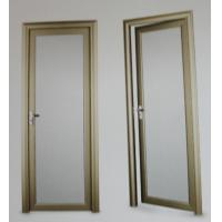 Buy cheap 1.4mm profile thickness red wood, cherry aluminum hinged doors for residential from wholesalers
