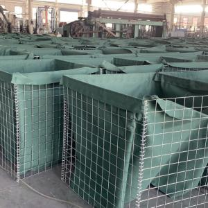 Iso9001 Welded Galvanized Sand Wall Gabion Defensive Barrier 0.3m For Army