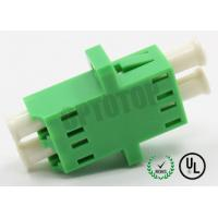 China 2F Duplex Fiber Optic Adapter / Plug For Optical Network Wiring , No Shutter on sale