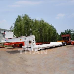 Best TITAN 3 axle heavy equipment trailer detachable gooseneck lowboy trailer lowboy trailer price for sale wholesale