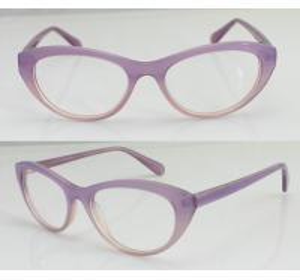 Best Hand Made Women Oval Fashion Eyeglasses Frames , Pink Glass Frame wholesale