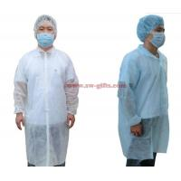 Best Disposable Lab Coats Nonwoven Fabric Work Coveralls Food Workshop White Ropa Dustproof Gown Velcro Protective Clothing wholesale