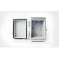 Best Watertight Hinged Plastic Enclosures Abrasion Resistant Light Gray Finish wholesale