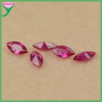 Buy cheap high quality marquise shape synthetic ruby stone for Jewelry making from wholesalers