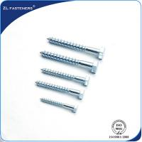 Best DIN571 Zinc Coated, Carbon Steel, Full Thread Hex Wood Screw Lag Bolt wholesale