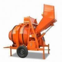 Buy cheap Red Concrete Mixer with 350L Discharge Capacity and 15hp Diesel Engine Power from wholesalers