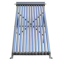 Best 24 Tubes  14mm Condenser Copper Heat Pipe Solar Collector With Black Aluminum Alloy Frame wholesale