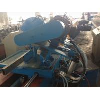 China Rain Spout PLC Control Downspout Pipe Roll Forming Machine With Single Chain Drive on sale