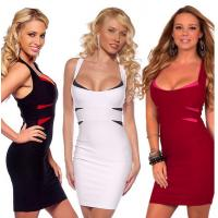 China Stylish Bandage Dresses Clubwear , White Night Club Sexy Party Dresses on sale