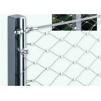 China 316 L Grade Stainless Steel Wire Rope Mesh For Protection Animal Zoo on sale