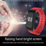F1 Smatband Waterproof Blutooth Smart Bracelet Heart Rate Monitor Watch Fitness